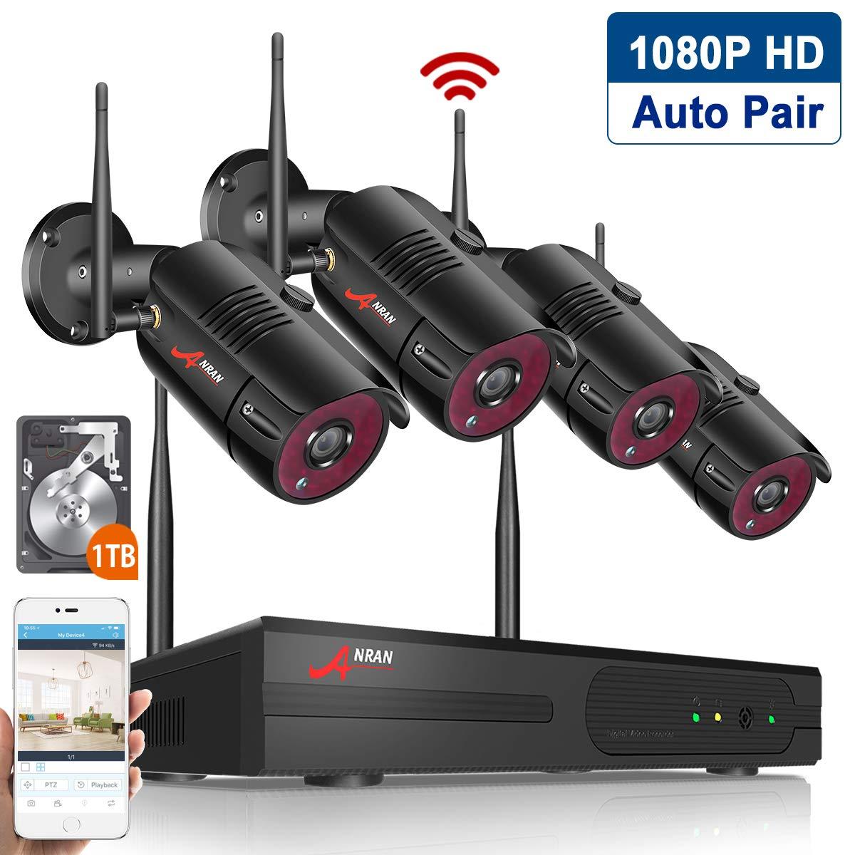 4ch 1080p Hd Nvr Outdoor Surveillance System Anran
