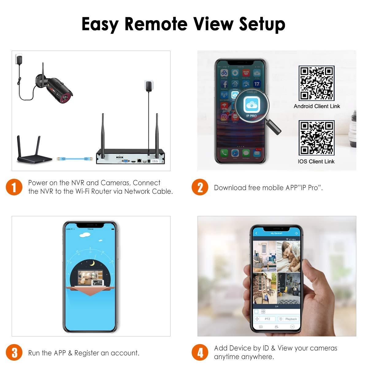 4CH 1080P HD NVR Outdoor Surveillance System – ANRAN